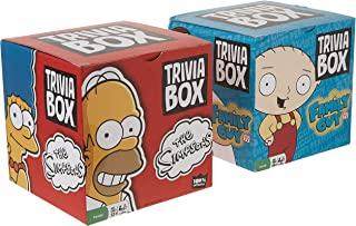 Simpsons and Family Guy Trivia Games - Trivia Box Bundle Set