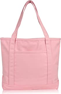 pink washed canvas tote
