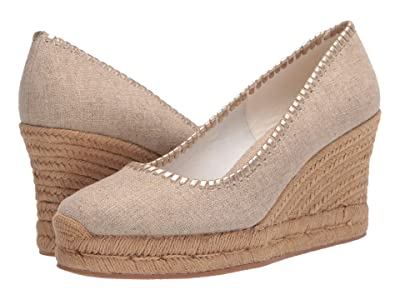 Jack Rogers Palmer Closed Toe Wedge (Natural) Women