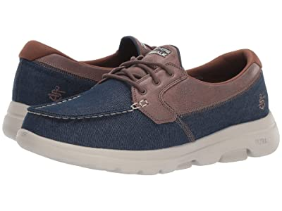 SKECHERS Performance Go Walk 5 (Navy/Brown) Men