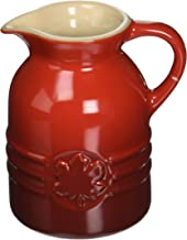 Le Creuset  PG1085-0567 Stoneware Syrup Jar, 6-Ounce, Cerise (Cherry Red)