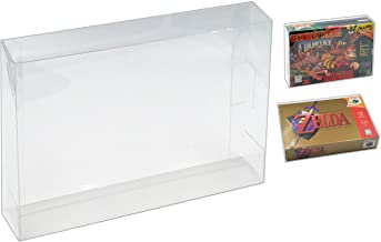 SNES & Nintendo 64 Game Box Protector Case - 10 Pack by Malko