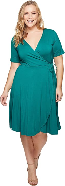 KARI LYN - Plus Size Allison Faux Wrap Dress