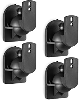WALI Universal Dual Side Clamping Bookshelf Speaker Wall Mounting Bracket for Large Surrounding Sound Speakers, Hold Up to...