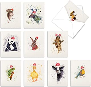 Sponsored Ad - The Best Card Company - 10 Christmas Animal Cards with Envelopes - Boxed Assorted Season`s Greetings, Holid...