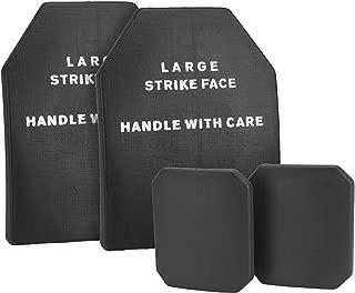 Evike Lightweight Airsoft Imitation SAPI Plate and Small Side Plates - M/L - Black/Tan