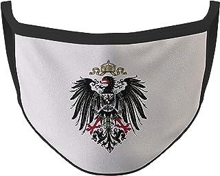 Copytec Mundmaske Deutsches Kaiser Reich Adler Deutschland schwarzase #35485