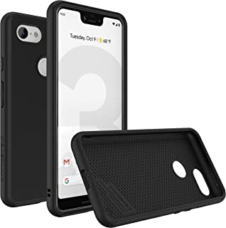 RhinoShield Case for Google Pixel 3 XL [SolidSuit] | Shock Absorbent Slim Design Protective Cover with Premium Matte Finish [3.5M/11ft Drop Protection] - Classic Black
