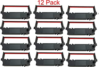 12 PACK SP-700 Ribbon Ink Cartridge Quality BLACK and RED Compatible with STAR Printer RC-700BR, SP700, 712, 742