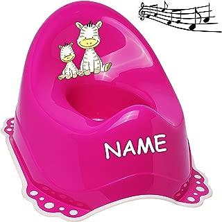 Melody mit gro/ßer Lehne Name Spritzschu.. Anti RUTSCH Jungen /_ inkl Bieco pink alles-meine.de GmbH Musik /& Sound T/öpfchen // Nachttopf // Babytopf rosa /_ Motiv-Mix