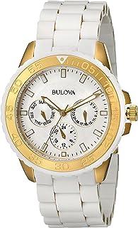 Bulova - Reloj analogico para Hombre de Cuarzo con Correa en Acero Inoxidable 98N102