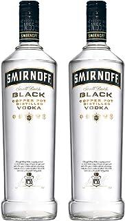Smirnoff Black No. 55 Vodka, 2er, Wodka, Alkohol, Alkoholgetränk, Flasche, 40%, 1 L, 717109