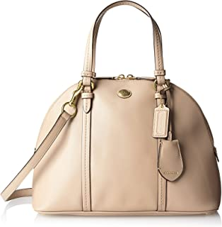 Peyton Sand Saffiano Leather Cora Domed Satchel - Style 25671