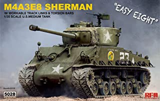 RFMRM5028 1:35 Rye Field Model M4A3E8 Sherman Easy Eight with Workable Track Links & Torsion Bars [Model Building KIT]