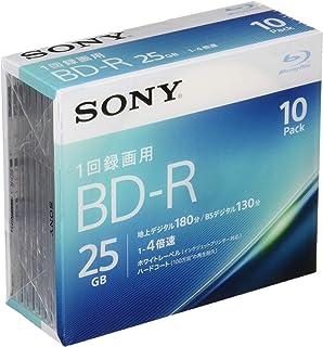 ソニー ビデオ用ブルーレイディスク 10BNR1VJPS4(BD-R 1層:4倍速 10枚パック)