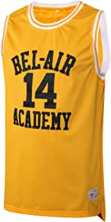 MM MASMIG Will Smith 14 The Fresh Prince of Bel Air Academy Basketball Jersey S-XXL Yellow