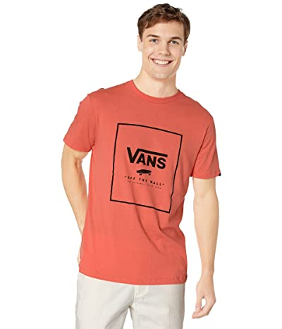 Vans Print Box Tee (Emberglow) Men