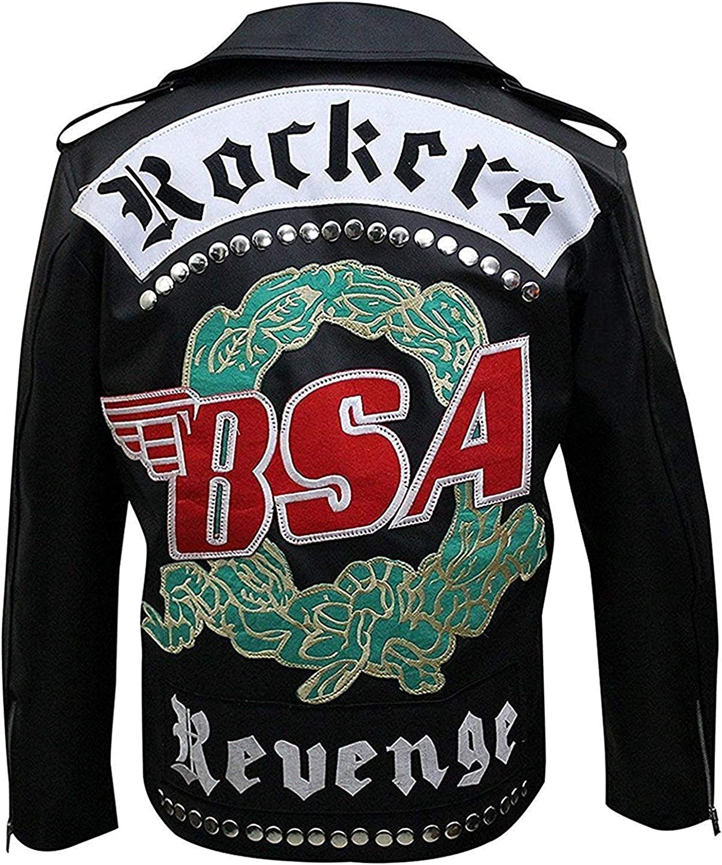 BSA Rockers Revenge George Michael Jac Men's Mail order cheap Faith Biker OFFicial Leather