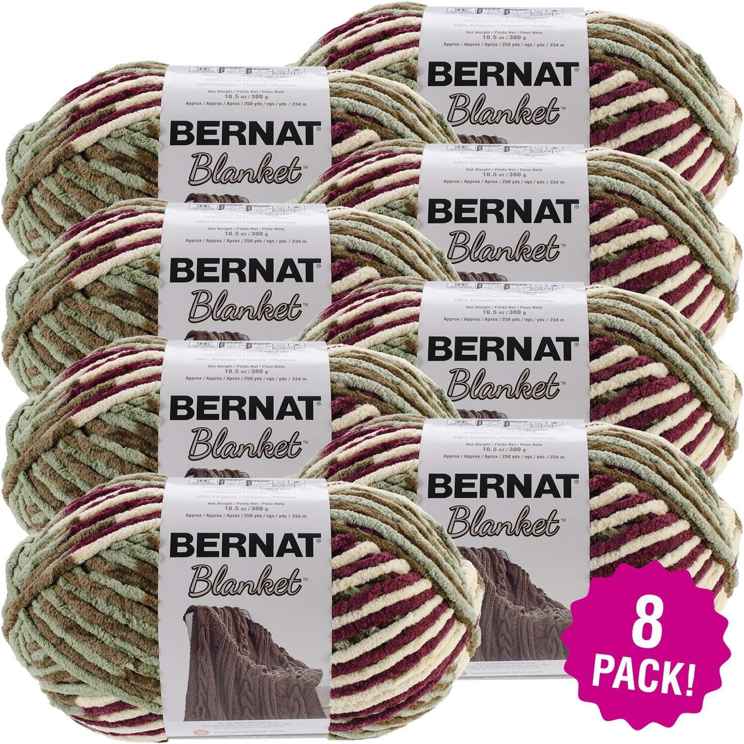 Bernat Plum Discount Department store mail order Fields Blanket Big Ball 8 of Multipack Pac Yarn