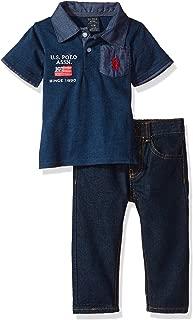 U.S. Polo Assn. Baby Boys' Polo Shirt and Pant Set