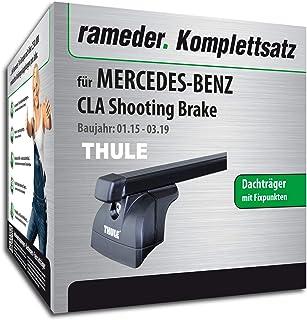 Rameder Komplettsatz, Dachträger SquareBar für Mercedes Benz CLA Shooting Brake (116305 13518 2)
