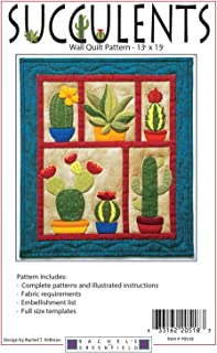 Succulents Cactus Wall Quilt Applique Pattern Rachel's of Greenfield