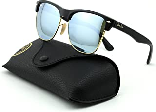 Ray-Ban RB4175 Clubmaster Oversized Unisex Mirrored Square Sunglasses