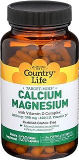Country Life - Target Mins Calcium Magnesium with D-Complex -120 Vegan Capsules