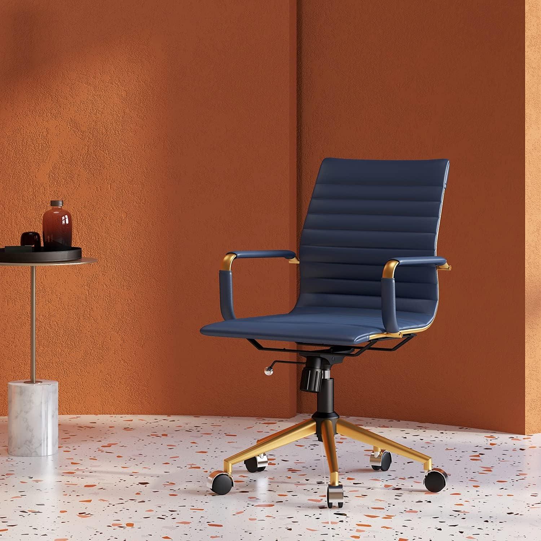 CAROCC Gold Office 店内全品対象 Chair Modern Home Whee セール品 with Desk