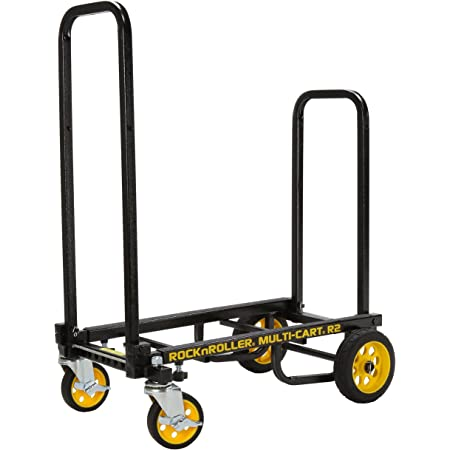 "Rock-N-Roller R2RT (Micro) 8-in-1 Folding Multi-Cart/Hand Truck/Dolly/Platform Cart/26"" to 39"" Telescoping Frame/350 lbs. Load Capacity, Black"