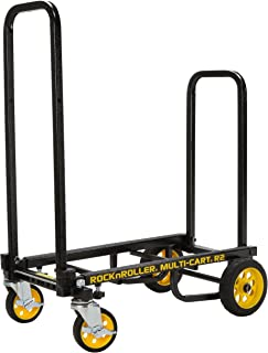 "Rock-N-Roller R2RT (Micro) 8-in-1 Folding Multi-Cart/Hand Truck/Dolly/Platform Cart/26"" to 39"" Telescoping Frame/350 lbs. ..."