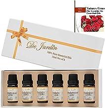Essential Oils Set of 6 x 10ml – Highest Quality 100% Pure Natural Aromatherapy Set - Lavender, Peppermint, Tea Tree, Eucalyptus, Lemon, Geranium - Perfect Gift or Beginner Kit - Includes Free e-Book