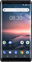 Nokia 8 Sirocco Single-SIM 128GB TA-1005 (GSM only, No CDMA) Factory Unlocked 4G Smartphone (Black) - International Version
