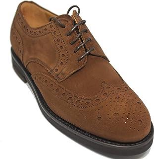 3d9a45ab561 Berwick Zapatos de Cordones con Pala Vega de Piel de Ante de Becerro Color  Marrón Claro