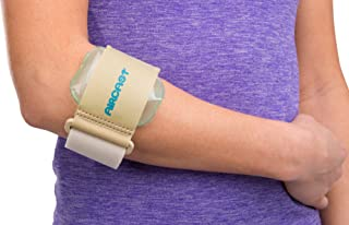 Aircast Pneumatic Armband: Tennis/Golfers Elbow Support Strap, Beige