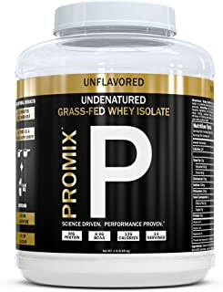 Native Grass Fed Whey Protein Isolate | 100% Optimum All Natural | Undenatured | Non-GMO + Gluten-Free + Soy-Free | ­Best for Fitness Nutrition Shakes | Energy Smoothie | 1lb | Promix Pure Fuel