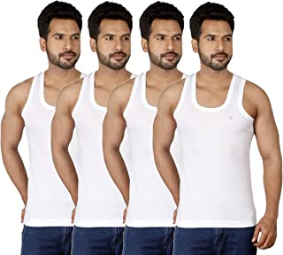 Amul Comfy Men's Cotton Seleveless Vest Combo of 4