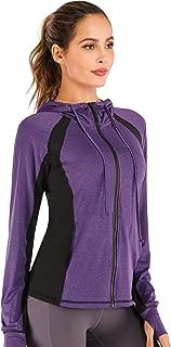 Women Yoga Jacket Full Zip Hooded Sports Running Jackets Training Lightweight Athletic Workout Track Jacket