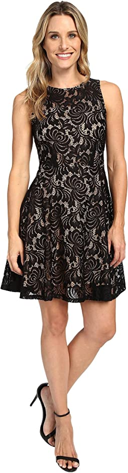 Fit and Flare Lace Dress
