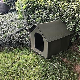DEECOZY Vattentätt katthus hundhus husdjur utomhus katthus, utomhus regntätt hundhus katthus villa tält hopfällbart husdju...