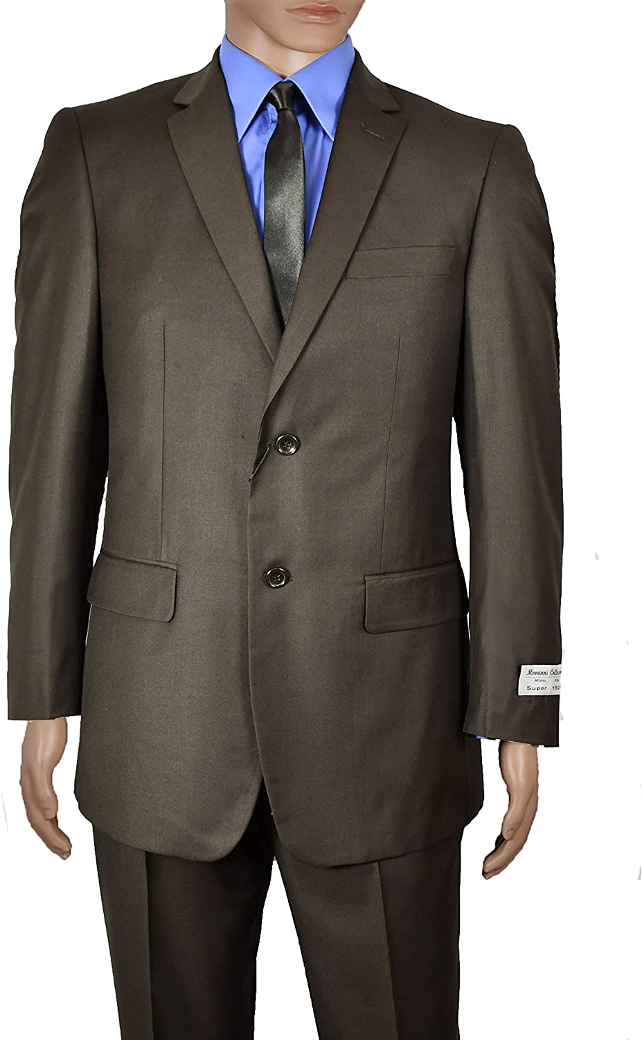 Men's Modern Fit Solid Brown Two Button Suit