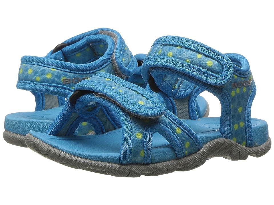Bogs Kids Whitefish Dots Sandal (Toddler) (Light Blue Multi) Girls Shoes