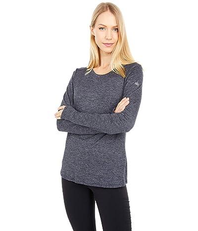 ALO Finesse Long Sleeve Top (Dark Heather Grey) Women