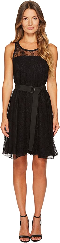 Sportmax - Assiro Lace Printed Jersey Dress