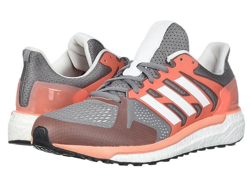 十年降雨不十分(アディダス) adidas レディースランニングシューズ?スニーカー?靴 Supernova Stability Grey Three/Footwear White/Chalk Coral 10 (27cm) B - Medium