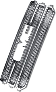 Front Grille Inserts Overlay Trim for 2016-2018 GMC Sierra 1500 -Chrome Snap On Mesh Screen - Car, Truck, Van & Jeep Accessories