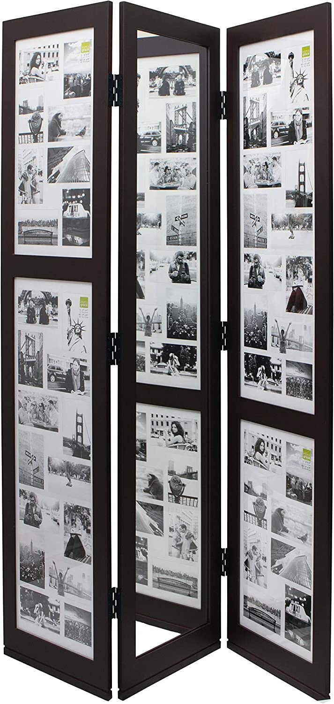 Kiera Grace Traditional Baltimore Mall 2021 autumn and winter new Room Espresso Collage Divider Frame