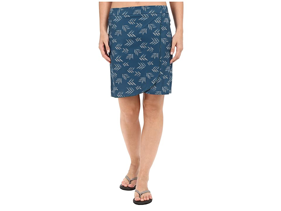 Toad&Co Whirlwind Skirt (Inky Teal Print) Women