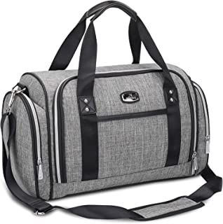 Nappy Changing Tote, Hafmall Convertible Baby Diaper Bag for Mom and Dad, Large Nappy Bag with Insulated Pockets