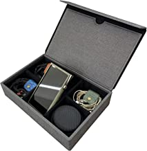 Sponsored Ad - Miter Multi Carrying Case for 6 Earphones or 1 Music Player + 4 IEM Earphones , Handmade Italy PU Leather H... photo